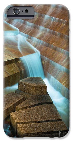 Downtown Stairs iPhone Cases - Staircase Fountain iPhone Case by Inge Johnsson