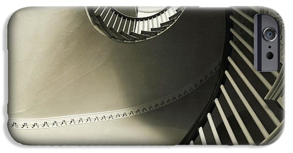City. Boston iPhone Cases - Staircase In Boston iPhone Case by Tom Hollyman