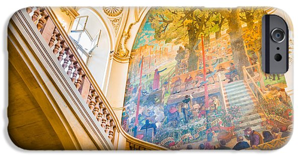 Painted Hall iPhone Cases - Staircase of the Capitole de Toulouse iPhone Case by Semmick Photo