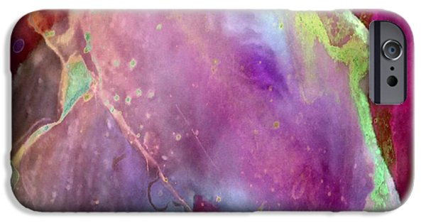 Abstract Digital Drawings iPhone Cases - Stamina iPhone Case by TLynn Brentnall