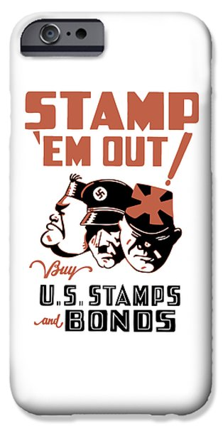 Ems iPhone Cases - Stamp Em Out - WW2 iPhone Case by War Is Hell Store