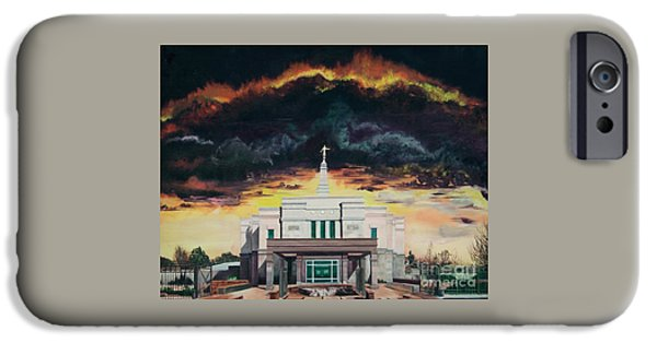Angel Moroni iPhone Cases - Stand in Holy Places iPhone Case by Jane Autry