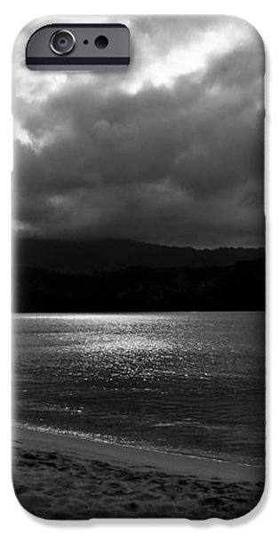 Stand Up Paddlers in Stormy Skies iPhone Case by Lennie Green