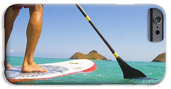 Break Fast iPhone Cases - Stand Up Paddling iPhone Case by Dana Edmunds - Printscapes