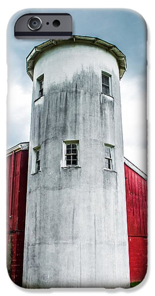 Old Barn iPhone Cases - Standing Tall iPhone Case by Shelby  Young