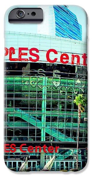 Staples Center Color iPhone Case by Ariane Moshayedi