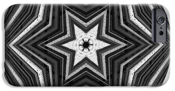 Texture iPhone Cases - Star iPhone Case by Kathy Strauss