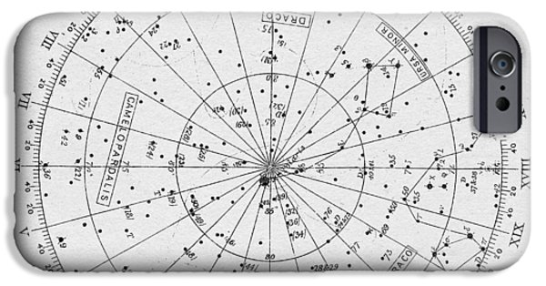 Stargazing iPhone Cases - Star Map iPhone Case by Taylan Soyturk