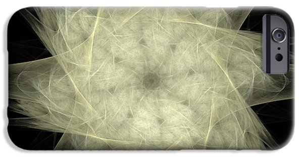 Fractal Mixed Media iPhone Cases - Star Of The Future iPhone Case by Deborah Benoit