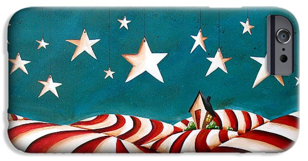 Patriotism iPhone Cases - Star Spangled iPhone Case by Cindy Thornton