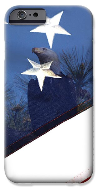 Constitution iPhone Cases - Star Stripes and The American Way iPhone Case by Pete Federico