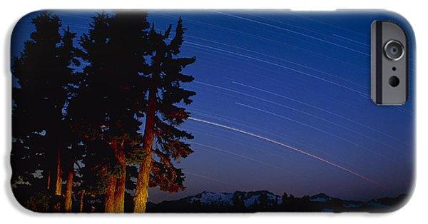 Stellar iPhone Cases - Star Trails iPhone Case by David Nunuk