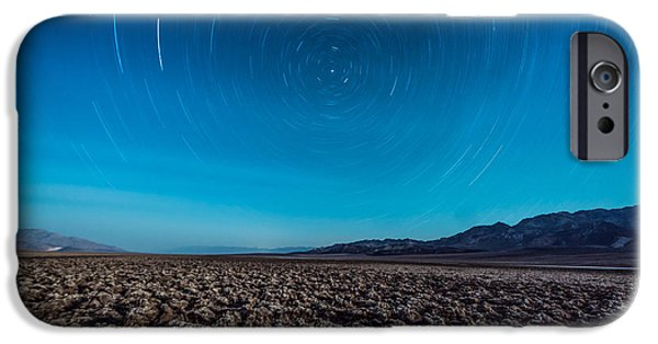 Constellations iPhone Cases - Star Trails in the Desert iPhone Case by Jim DeLillo