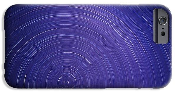 Stellar iPhone Cases - Star Trails iPhone Case by Kaj R. Svensson
