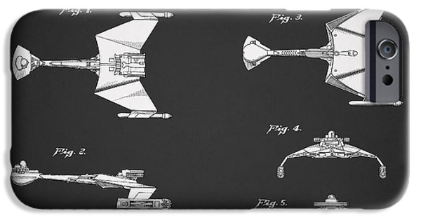 Enterprise Photographs iPhone Cases - Star Trek - Spaceship Patent iPhone Case by Mark Rogan