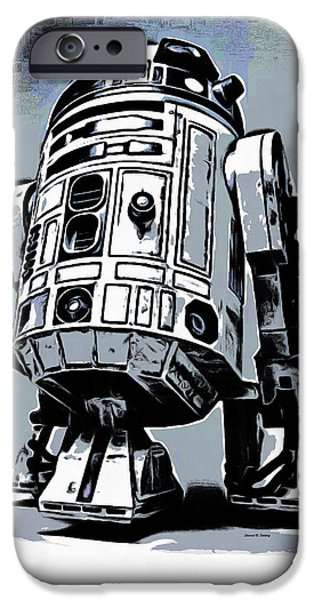 Epic iPhone Cases - Star Wars R2D2 iPhone Case by Edward Fielding
