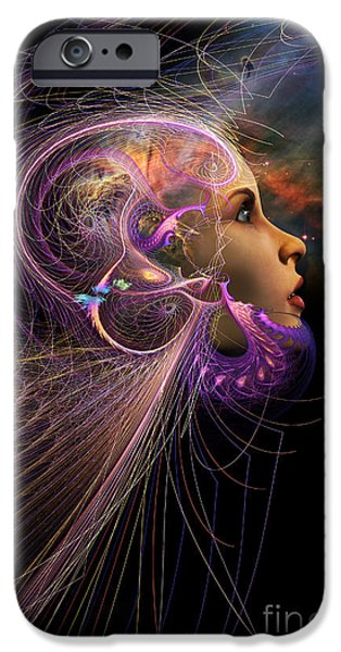 Abstract Digital iPhone Cases - Starborn iPhone Case by John Edwards