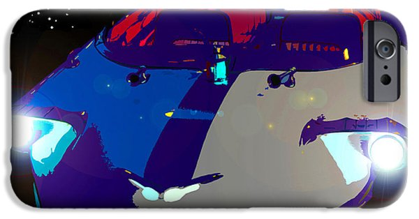 Model iPhone Cases - Starcruiser Model A iPhone Case by David Lee Thompson