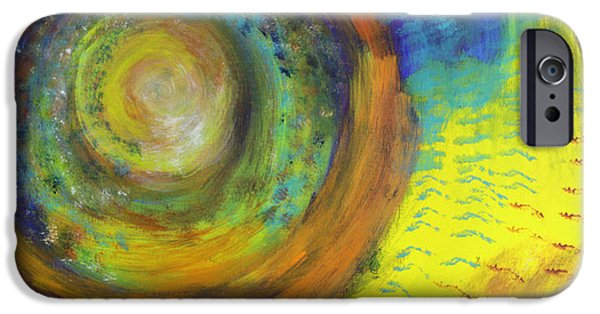 Stargazing Paintings iPhone Cases - Stardust iPhone Case by Vicki Mae