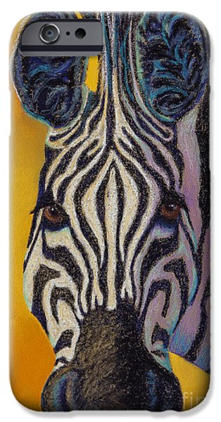 Stripes Pastels iPhone Cases - Stare Down iPhone Case by Tracy L Teeter