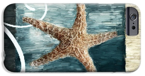 Coastal Decor Digital iPhone Cases - Starfish Spell iPhone Case by Lourry Legarde