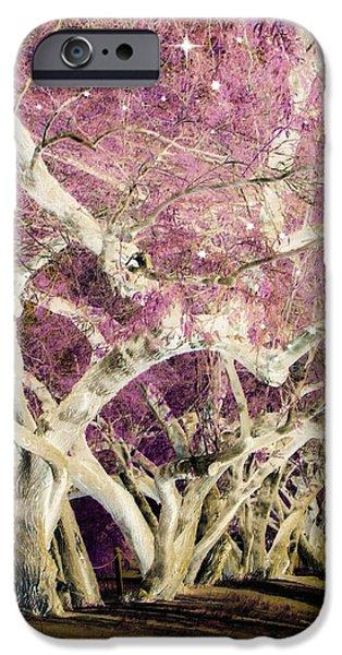 Tree Art Print iPhone Cases - Stargazer iPhone Case by Lisa S Baker