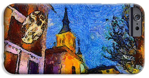 Building iPhone Cases - Starry Madrid Tribute To Vincent iPhone Case by Alan Armstrong