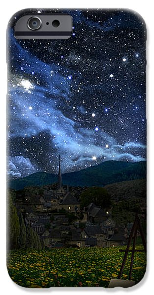 Starry Night iPhone Case by Alex Ruiz