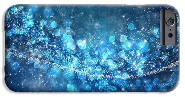 Abstracts iPhone Cases - Stars And Bokeh iPhone Case by Setsiri Silapasuwanchai