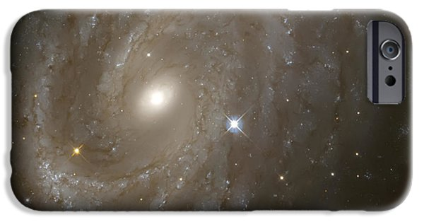 Hubble Telescope Images iPhone Cases - Stars and Spiral Galaxy iPhone Case by The  Vault - Jennifer Rondinelli Reilly