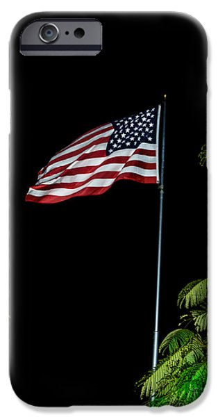 Stripes iPhone Cases - Stars And Stripes Forever iPhone Case by Robert Bales