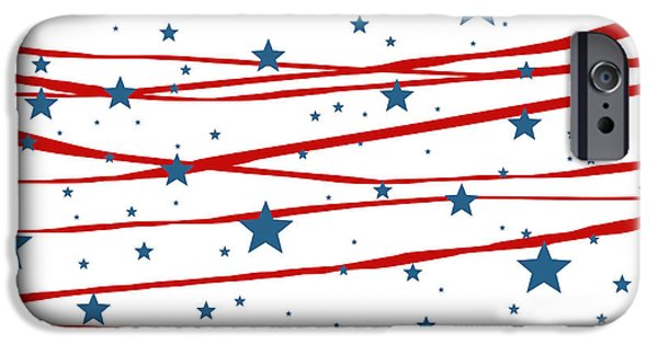 July iPhone Cases - Stars and Stripes iPhone Case by Marianna Mills