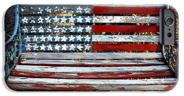 American Pride iPhone Cases - Stars and Stripes iPhone Case by M J Glisson