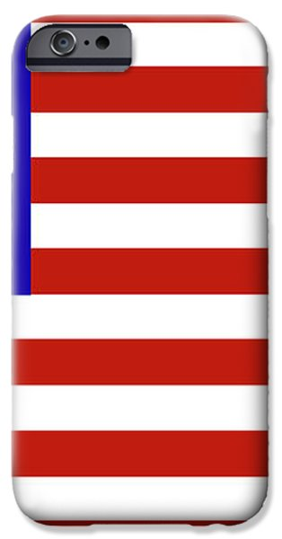 Stars and Stripes of RetroCollage iPhone Case by Eric Edelman
