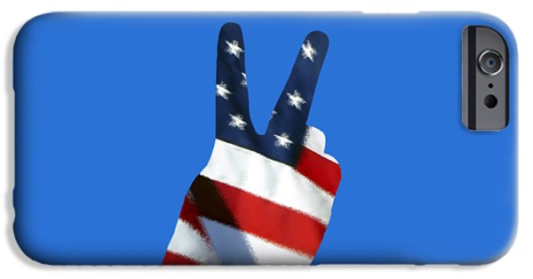 Old Glory iPhone Cases - Stars and Stripes Peace Sign .png iPhone Case by Al Powell Photography USA