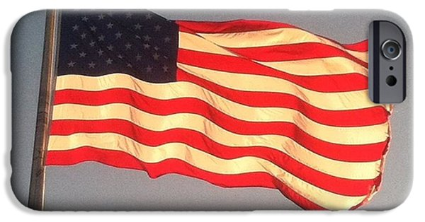Old Glory iPhone Cases - Stars and Stripes iPhone Case by Sandra Acosta