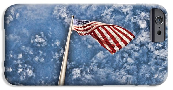 Old Glory iPhone Cases - Stars and Stripes iPhone Case by Scott Pellegrin