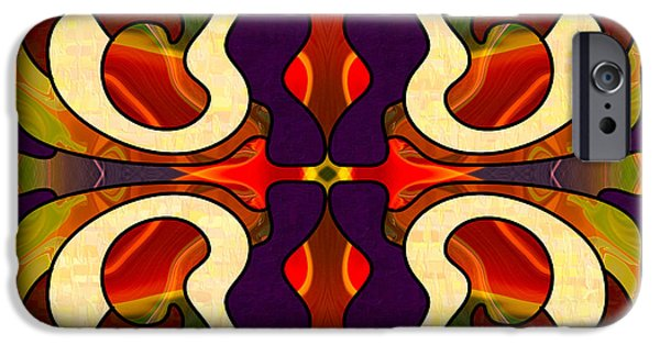 Abstract Digital Drawings iPhone Cases - Starting New Abstract Art by Omashte iPhone Case by Omaste Witkowski