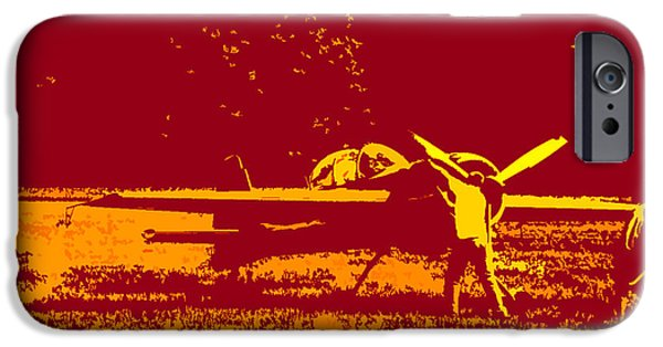 Yak Digital Art iPhone Cases - Starting Up A Plane 2 iPhone Case by Chris  Taggart