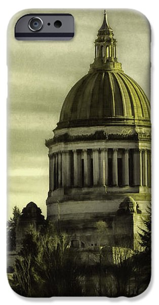 Built Structure iPhone Cases - State Capitol iPhone Case by Jean OKeeffe Macro Abundance Art