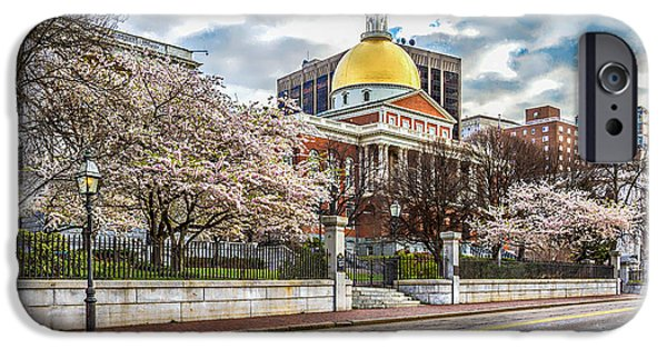 Boston Ma iPhone Cases - State House Massachusetts iPhone Case by Larry  Richardson