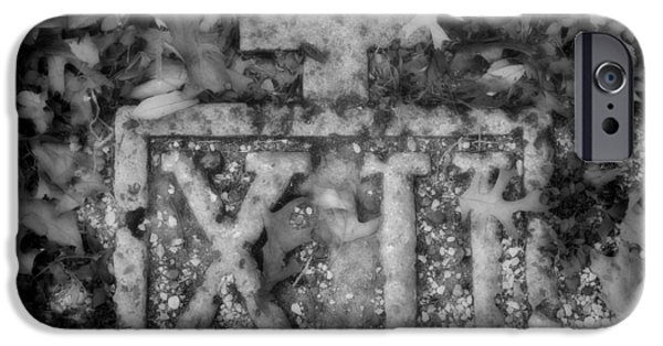 Holy Week iPhone Cases - Station 12 BW - San Juan Capistrano iPhone Case by Stephen Stookey