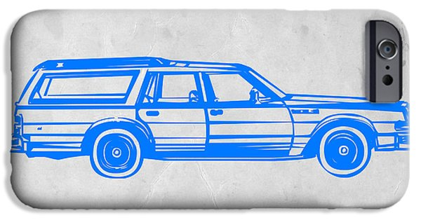 Cars iPhone Cases - Station Wagon iPhone Case by Naxart Studio