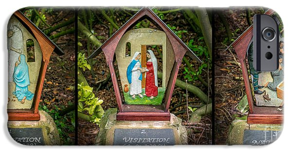 Annunciation iPhone Cases - Stations of the Cross 1 iPhone Case by Adrian Evans
