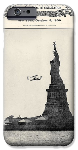 Carousel Collection iPhone Cases - Statue Of Liberty, 1909 iPhone Case by Granger