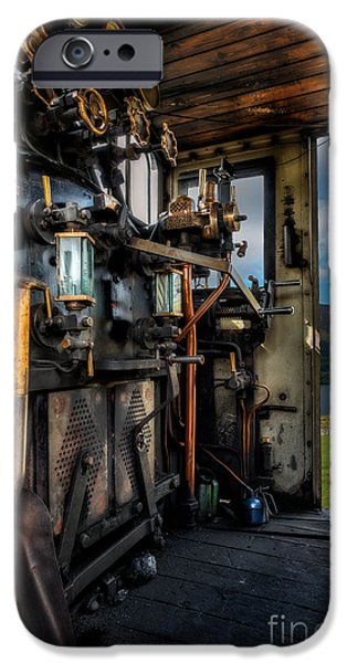 Steam Locomotive iPhone Cases - Steam Locomotive Footplate iPhone Case by Adrian Evans