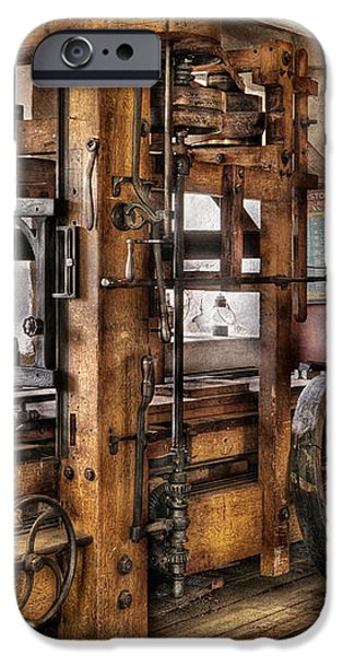 Steam Punk - The Press iPhone Case by Mike Savad