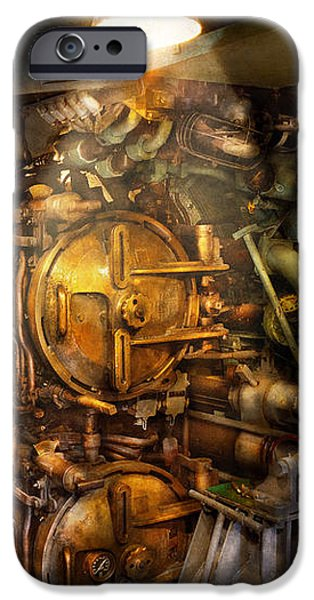 Steampunk - Naval - The torpedo room iPhone Case by Mike Savad