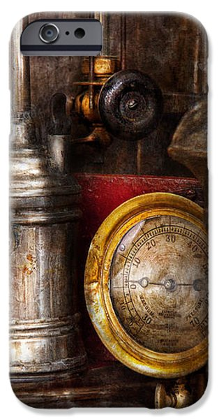 Steampunk - Needs oil iPhone Case by Mike Savad