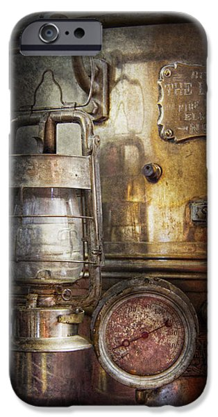 Mechanism iPhone Cases - Steampunk - Silent into the night iPhone Case by Mike Savad
